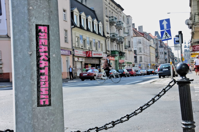 Freakatronic Sticker / Poznan / Foto: Juna Photodesign