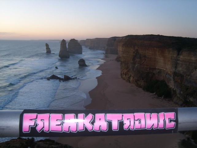 Freakatronic Sticker in Australia - 12 Apostles Great Ocean Road Victoria - Thx Chris!