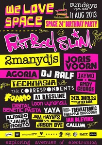 We Love Space - Space 24th Birthday Party - Ibiza -  FREAKATRONIC LIVE